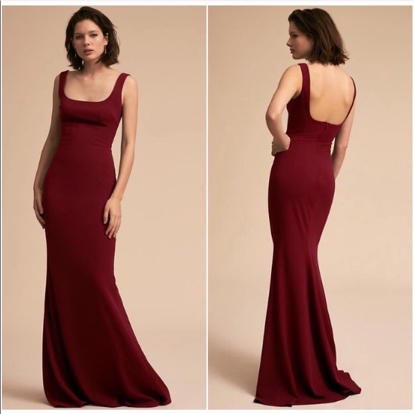 3cbe73a1ed2 BHLDN Dresses   Skirts - BHLDN Katie May • Lucy Dress Bordeaux Formal Gown